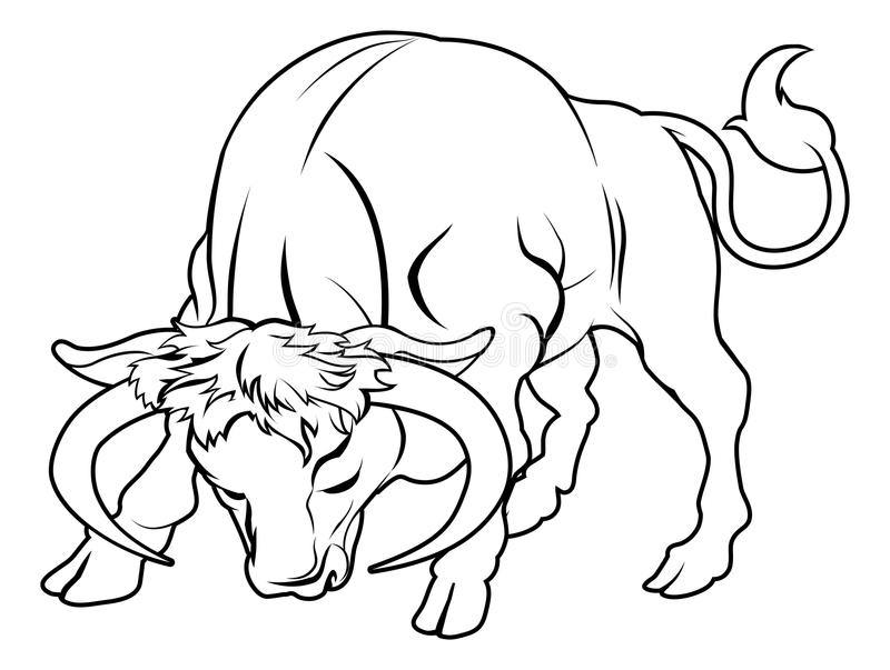 Ejemplo estilizado del toro ilustración del vector