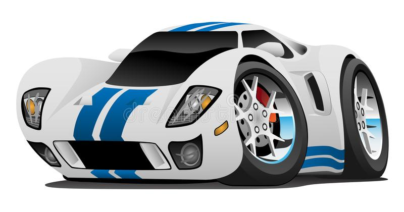Ejemplo estupendo del vector de la historieta del coche ilustración del vector