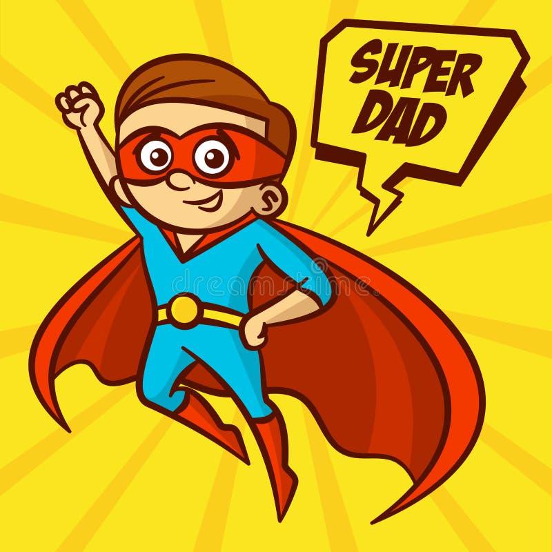 Ejemplo estupendo del vector del papá de los super héroes libre illustration