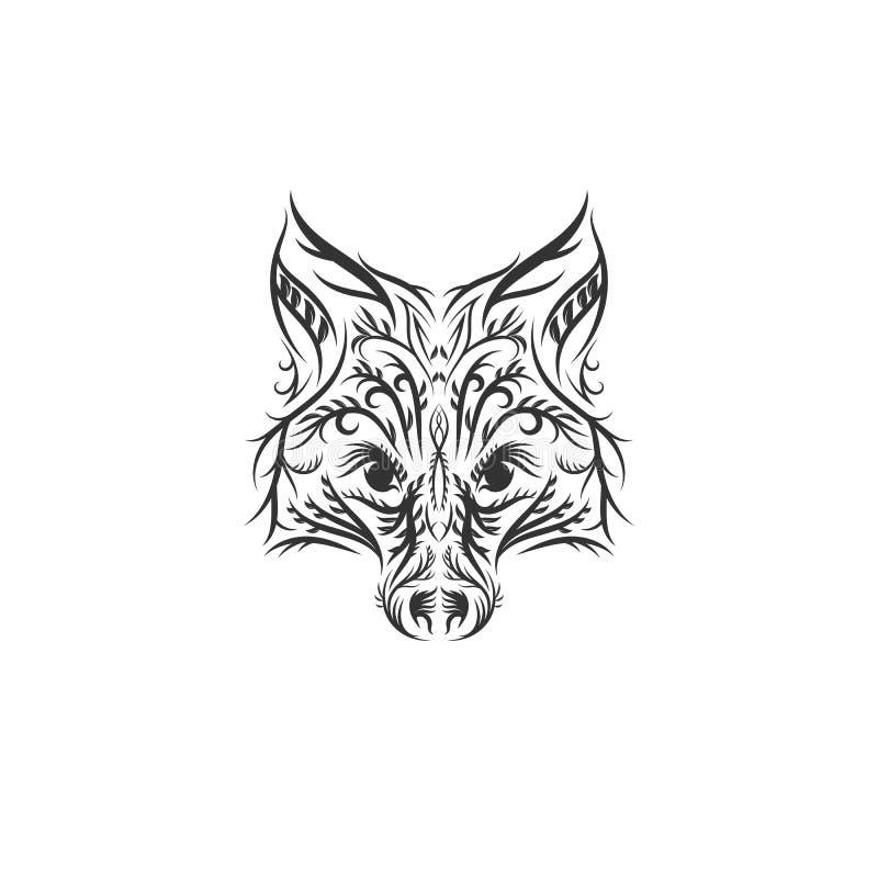 Ejemplo exhausto del zorro de la mano ilustración del vector
