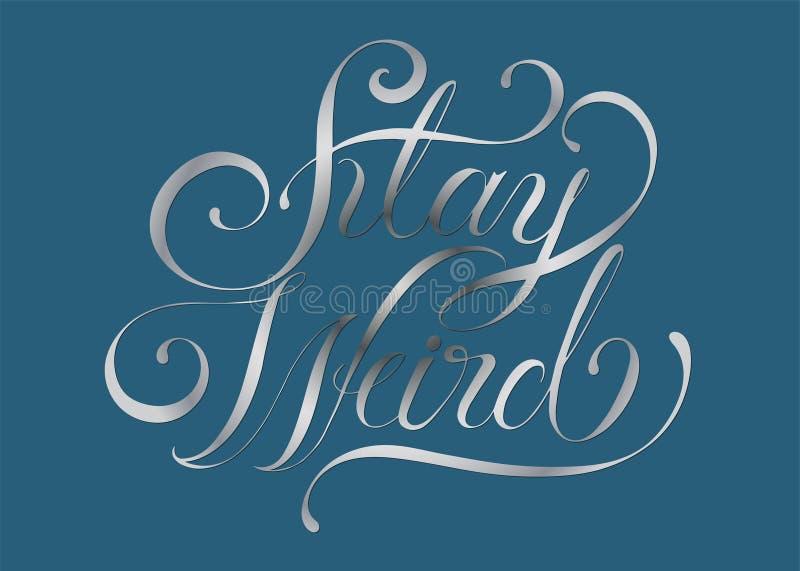 Ejemplo extraño del diseño de la tipografía de la estancia ilustración del vector