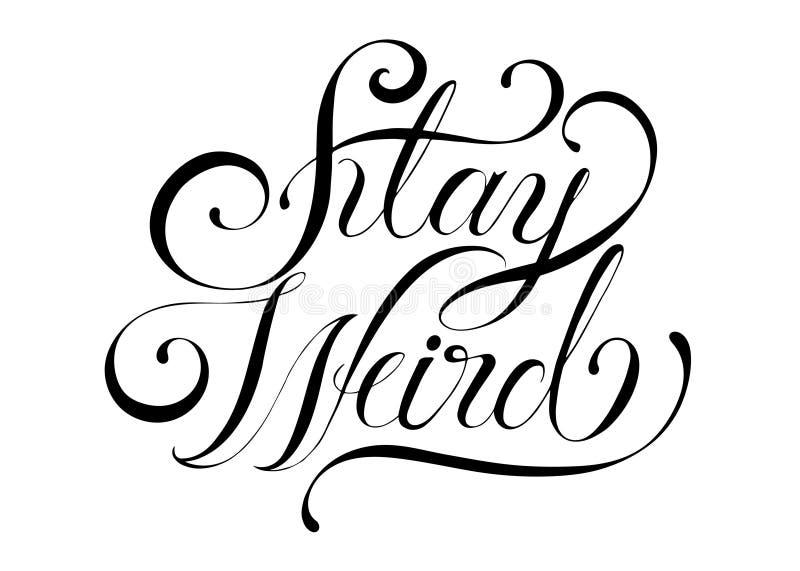Ejemplo extraño del diseño de la tipografía de la estancia libre illustration