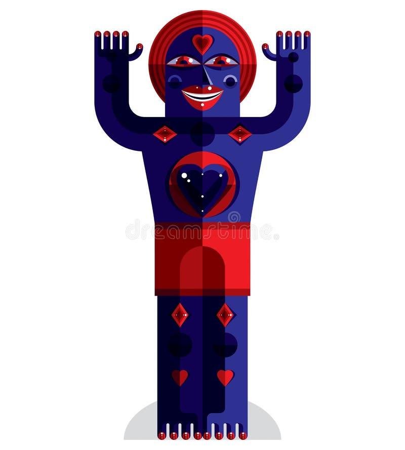 Ejemplo extraño del vector de la criatura libre illustration