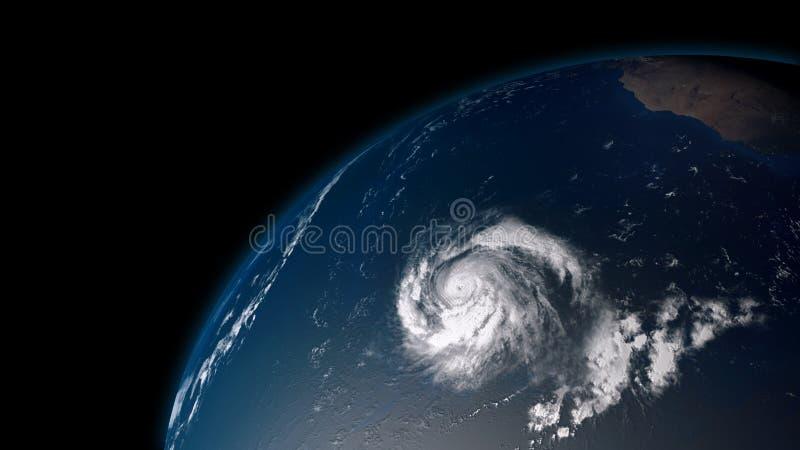 Ejemplo extremadamente detallado y realista de la alta resolución 3D de un huracán stock de ilustración
