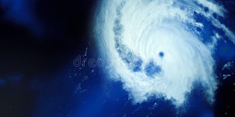 Ejemplo extremadamente detallado y realista de la alta resolución 3D de un huracán Tirado de espacio Los elementos de esta imagen imagen de archivo