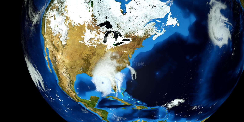 Ejemplo extremadamente detallado y realista de la alta resolución 3D de un huracán Tirado de espacio Los elementos de esta imagen foto de archivo
