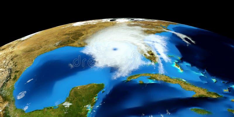 Ejemplo extremadamente detallado y realista de la alta resolución 3D de un huracán Tirado de espacio Los elementos de esta imagen fotos de archivo libres de regalías