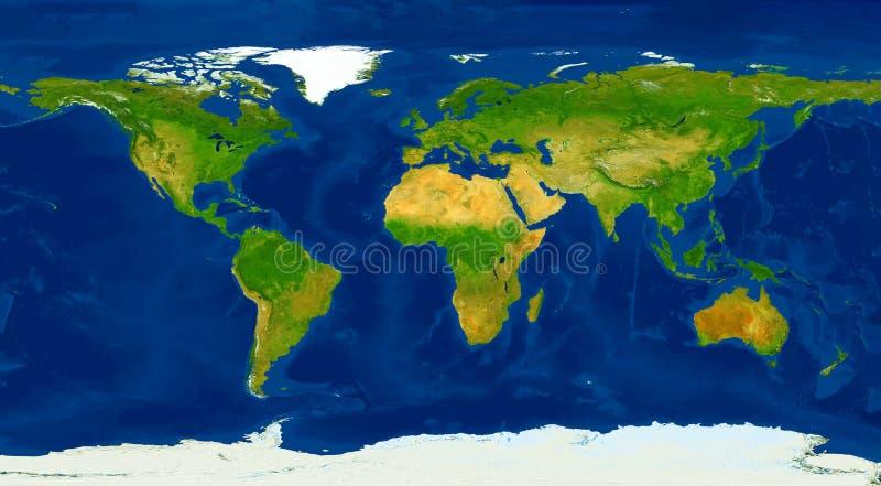 Ejemplo físico del mapa del mundo del tamaño de XXL stock de ilustración