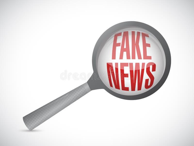 ejemplo falso del concepto del icono del comentario de las noticias stock de ilustración