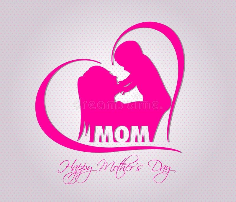 Ejemplo feliz de la celebración del día de madres ilustración del vector