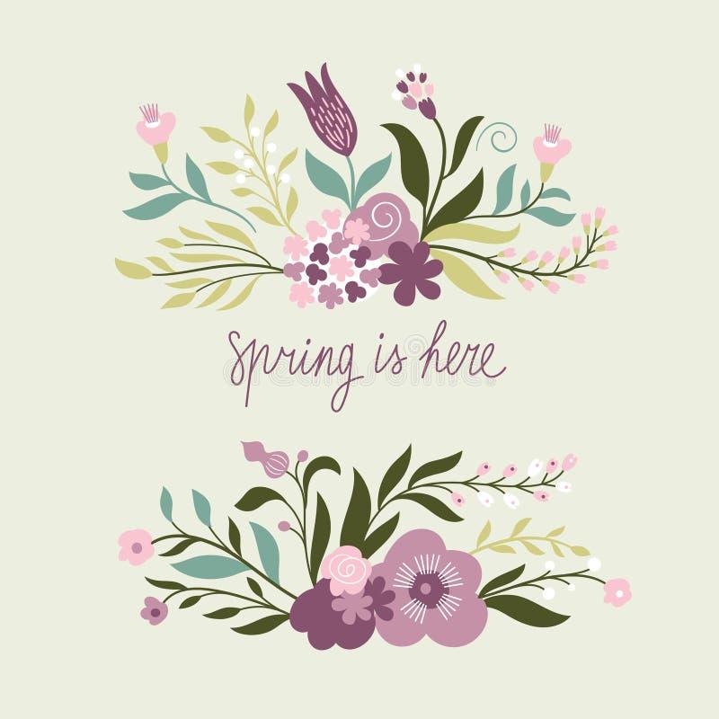 Ejemplo feliz de la primavera ilustración del vector