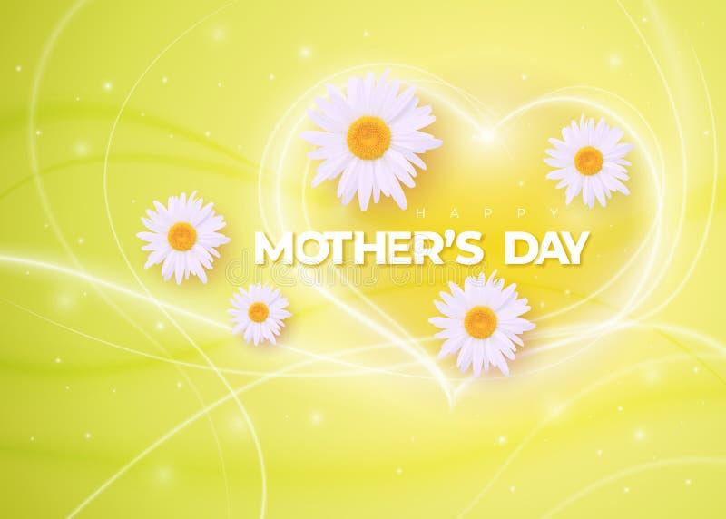 Ejemplo feliz del día de fiesta del vector del día de madres ilustración del vector