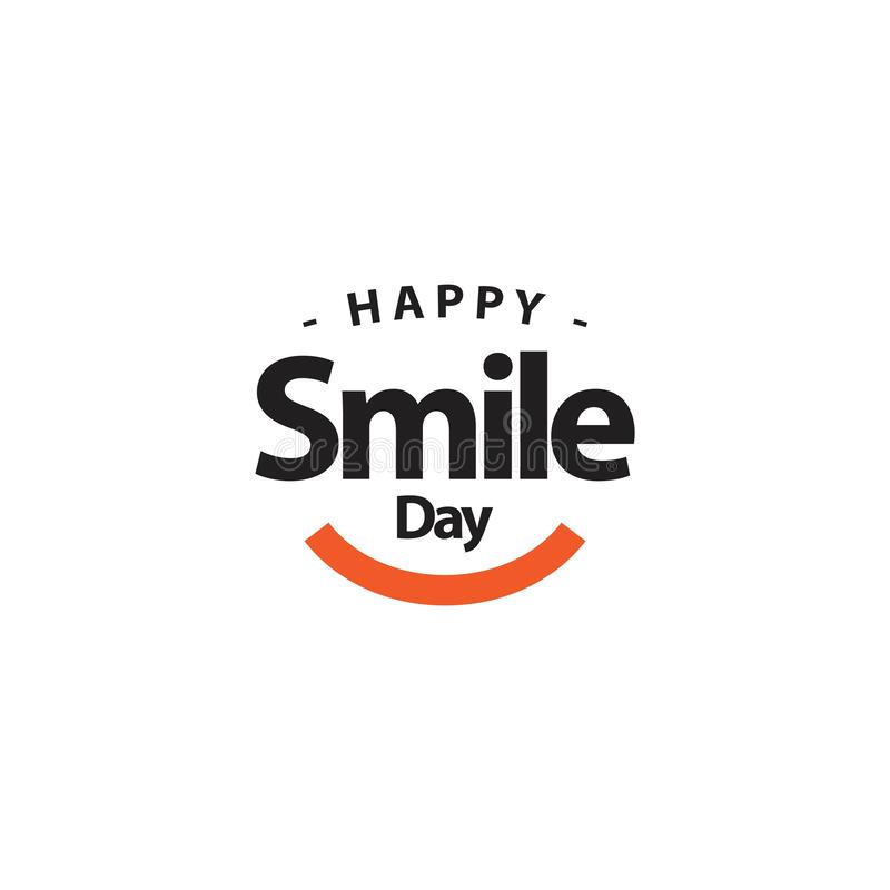 Ejemplo feliz del diseño de la plantilla del vector del día de la sonrisa stock de ilustración