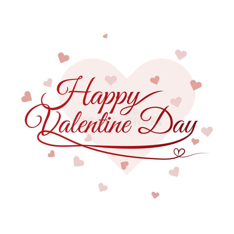 Ejemplo feliz del fondo del cepillo del vector del texto de las letras de día de San Valentín stock de ilustración