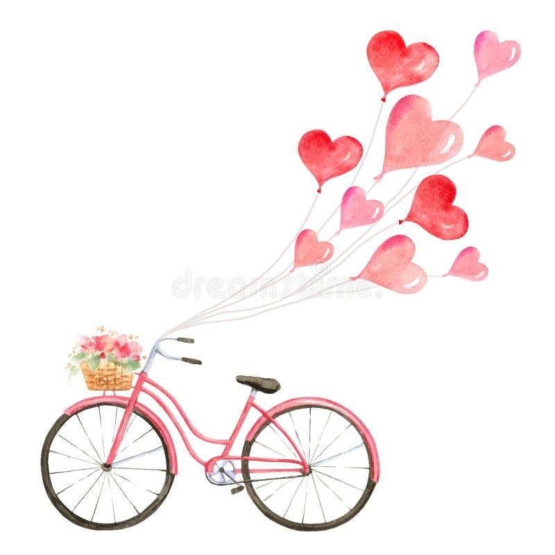 Ejemplo feliz del vector de la acuarela de día de San Valentín libre illustration