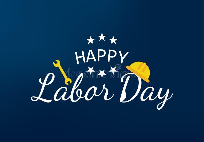 Ejemplo feliz del vector de la bandera del Día del Trabajo imagenes de archivo