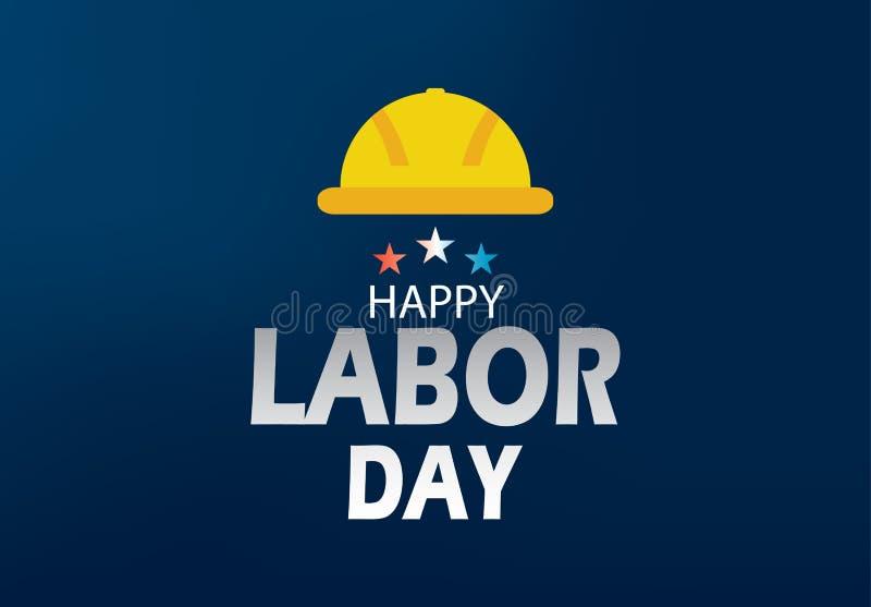 Ejemplo feliz del vector de la bandera del Día del Trabajo foto de archivo