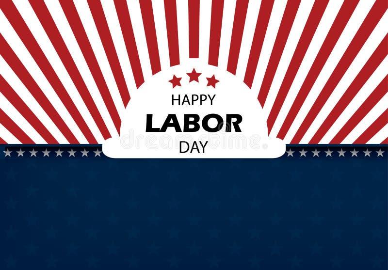 Ejemplo feliz del vector de la bandera del Día del Trabajo imagen de archivo