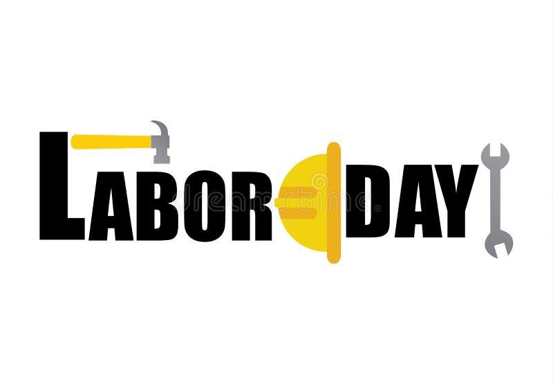 Ejemplo feliz del vector de la bandera del Día del Trabajo imágenes de archivo libres de regalías