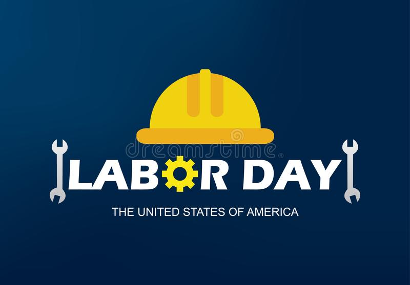 Ejemplo feliz del vector de la bandera del Día del Trabajo foto de archivo libre de regalías