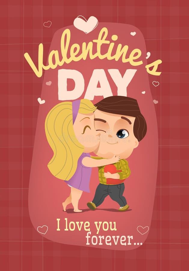 Ejemplo feliz del vector del día de tarjetas del día de San Valentín stock de ilustración