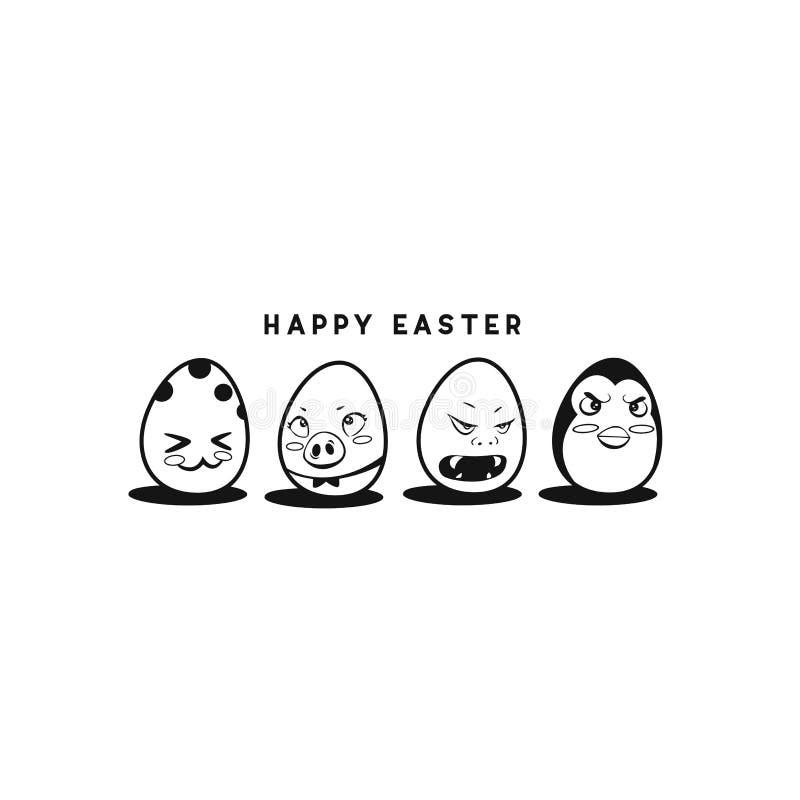 Ejemplo feliz del vector del huevo de Pascua imagenes de archivo