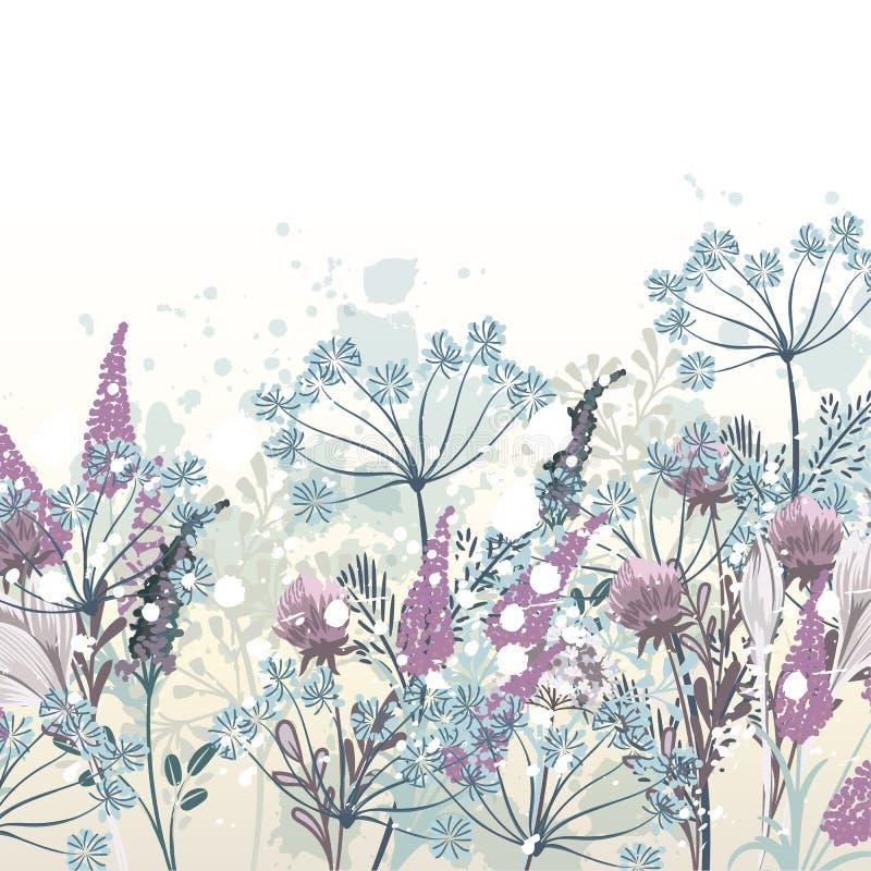 Ejemplo floral dibujado mano hermosa del vector para el diseño libre illustration
