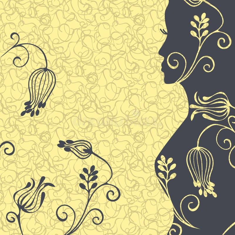 Ejemplo floral eps10 del vector de la muchacha libre illustration
