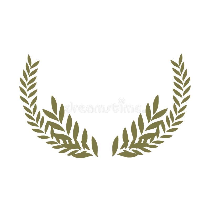 Ejemplo floral verde oliva - guirnalda del marco de la rama de olivo para casarse inmóvil, saludos, papeles pintados, moda ilustración del vector