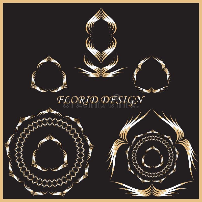 Ejemplo florido del vector del diseño ilustración del vector
