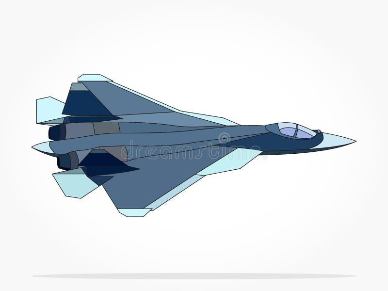 Ejemplo flotante del avión de reacción con efecto de sombra libre illustration