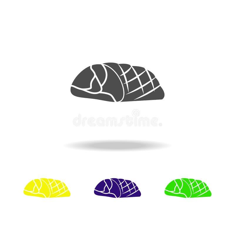 ejemplo frío-hervido del cerdo Elemento de los iconos multicolores del producto de carne para el concepto móvil Cerdo frío-hervid libre illustration