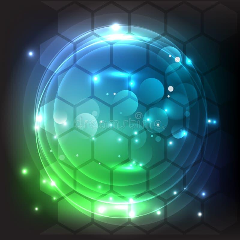 Ejemplo futurista del vector del hex?gono Elemento de HUD Concepto de la tecnolog?a Datos grandes libre illustration