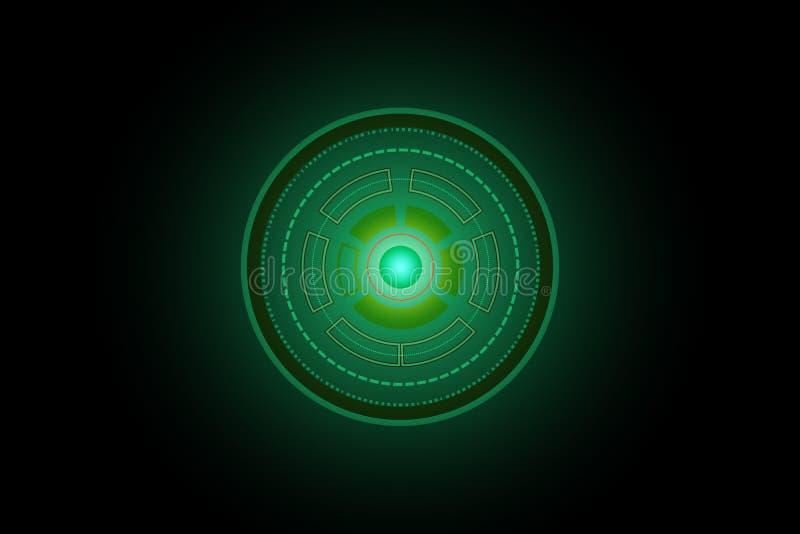Ejemplo futuro abstracto del fondo del concepto del verde de la tecnología del círculo stock de ilustración