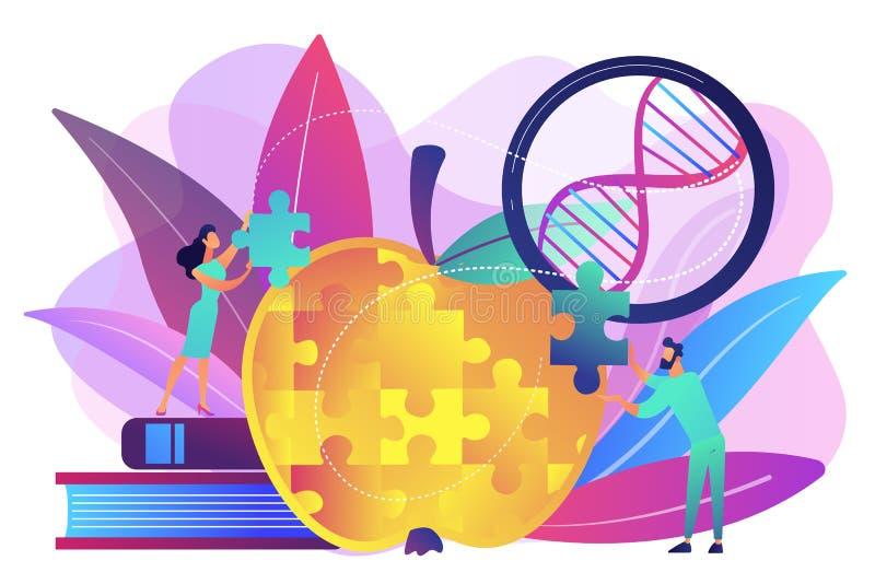 Ejemplo genético modificado del vector del concepto del organismo stock de ilustración