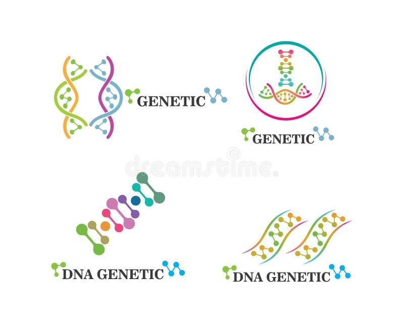 Ejemplo gen?tico del icono del logotipo de la DNA stock de ilustración