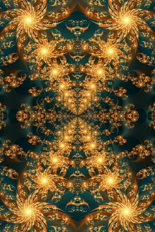 Ejemplo generado por ordenador único hermoso del extracto 3d de un fondo ardiente enérgico artístico de las ilustraciones libre illustration