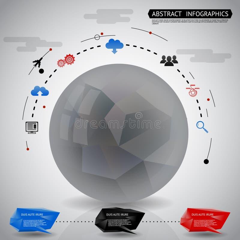 Ejemplo geométrico abstracto del vector del fondo de los iconos de Infographics de la bola libre illustration