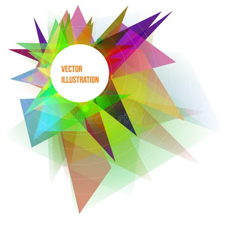 Ejemplo geométrico colorido abstracto del vector del fondo ilustración del vector