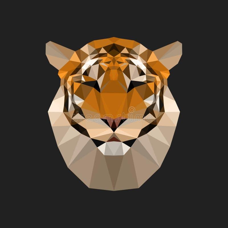 Ejemplo geométrico del tigre del polígono stock de ilustración