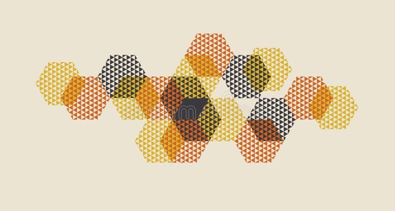 Ejemplo geométrico del vector del modelo en el estilo retro 60s Vintag libre illustration