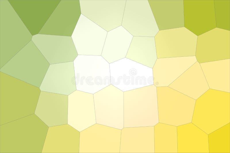 Ejemplo gigante amarillo, verde y blanco del fondo del hexágono libre illustration