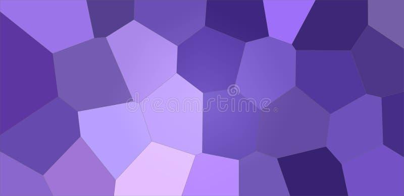 Ejemplo gigante colorido azul marino y púrpura del fondo del hexágono stock de ilustración