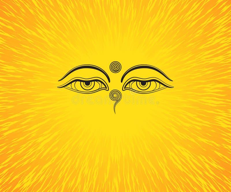 Ejemplo gráfico de los ojos del ` s de Buda libre illustration
