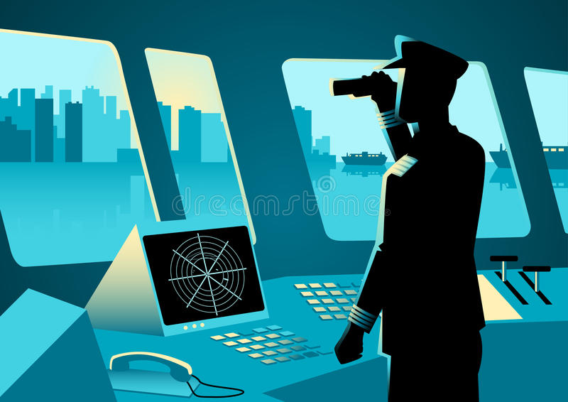 Ejemplo gráfico de un capitán de buque libre illustration