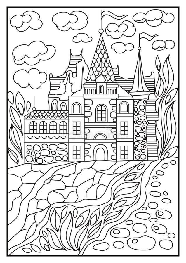 Ejemplo gráfico de un castillo en el fondo de la naturaleza 3 libre illustration