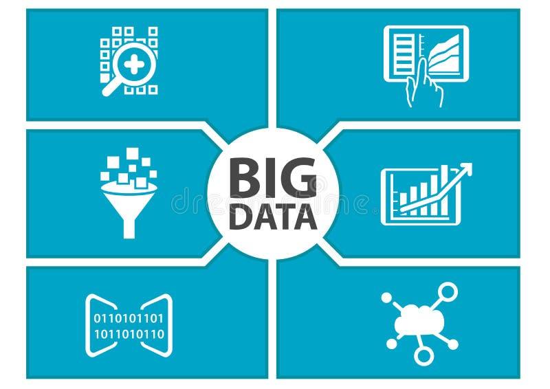 Ejemplo grande del tablero de instrumentos de los datos libre illustration