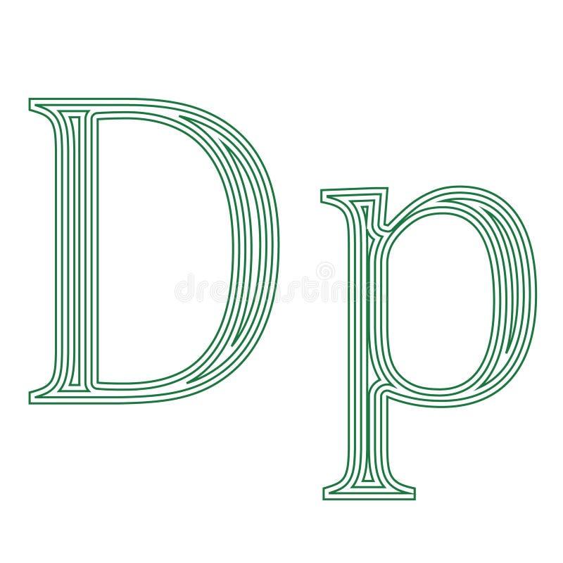 Ejemplo griego del vector del icono del símbolo de moneda de Grecia del dracma stock de ilustración