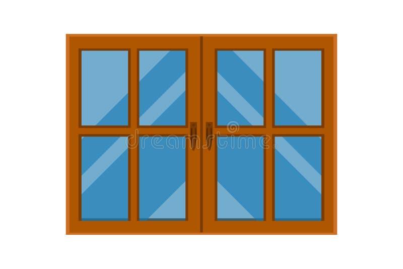 Ejemplo hermoso del diseño del vector de las ventanas ilustración del vector