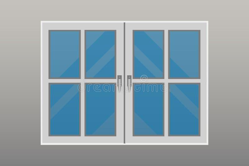 Ejemplo hermoso del diseño del vector de las ventanas stock de ilustración